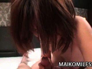 Chiho फुजी: जापानी गर्म बिल्ली सह के साथ बह निकला