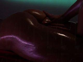 तेल से सना हुआ strapon सेक्स