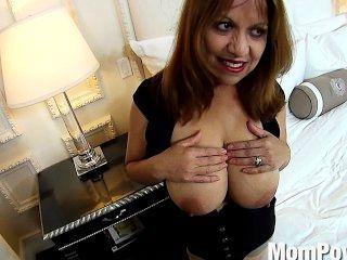 पर्दे के पीछे लैटिना milf विशाल प्राकृतिक स्तन