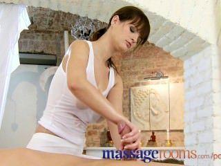 मालिश कमरे पैर रगड़ और संचिका मलाई के साथ तेल सेक्स