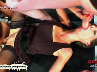 श्यामला और गोरा लड़कियां खुशी लंड और सह निगल