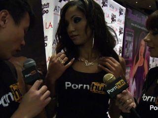 2014 AVN पुरस्कार में pornhubtv सैडी Santana साक्षात्कार