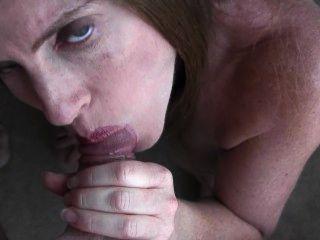 30 सप्ताह की गर्भवती पीओवी blowjob और चेहरे