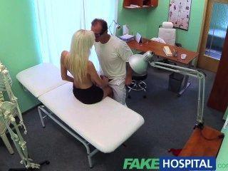FakeHospital गीला और जंगली गोरे लोग तंग बिल्ली डॉक्टर मना