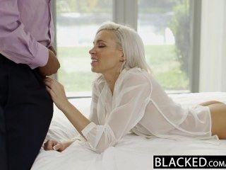 बेहोश preppy गोरा प्रेमिका Kacey जॉर्डन बीबीसी के साथ धोखा देती है