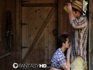 HD FantasyHD - cowgirl डैनी डेनियल खेत में डिक की सवारी