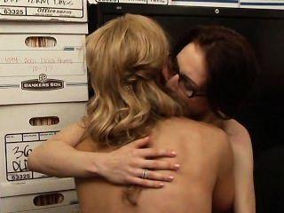 तान्या टेट और Aiden एशले दृश्य 1 - लेस्बियन कार्यालय Seductions 5