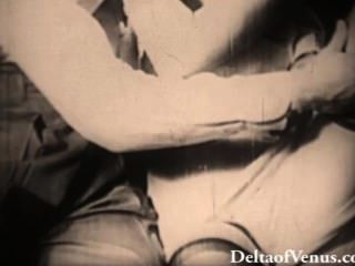 प्रामाणिक प्राचीन अश्लील 1940 के दशक - blondie गड़बड़ हो जाता है