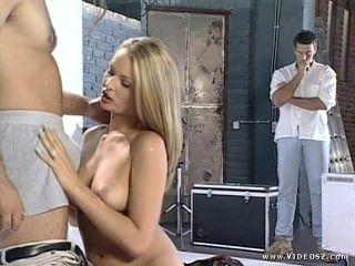 निकी एंडरसन - फैशन मॉडल फोटो शूट त्रिगुट सेक्स में बदल जाता है
