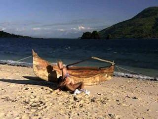 हॉट बेब समुद्र तट और डिक प्यार करता है
