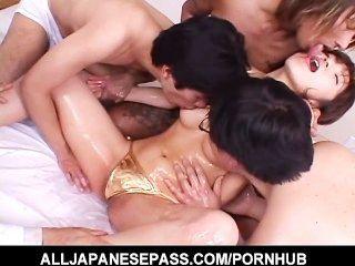 गर्म जापानी गर्म Airi Nakajima के साथ घटिया नंगा नाच