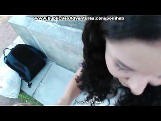 Pantyhose में लड़की के साथ आउटडोर बकवास
