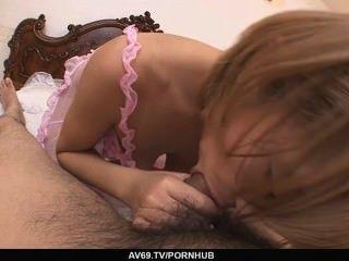 सेक्सी किशोरों Sumire Matsu यह सब अपने सह के लिए करता है