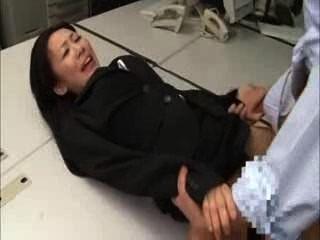 जापानी काले सूट कार्यालय महिला Bukkake बकवास