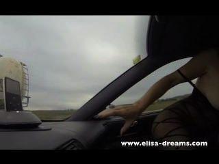 चमकती और राजमार्ग में गुदा सेक्स