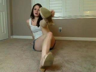 सुंदर लड़की पैर पीओवी