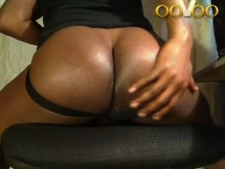 ooVoo बड़ा काला गधा दिखा webchat