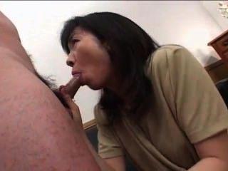 महान milf एशियाई Blowjob