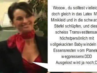 scheiss frauenhalstuchträgerschwein / transvestitenschwein wird totgepresst