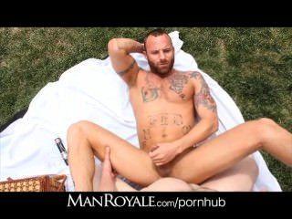 manroyale हॉट लड़के पार्क में बकवास फ्लिप