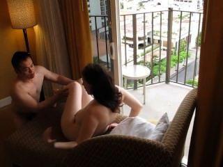चीनी प्रेमी होटल में सफेद किशोरों भरने