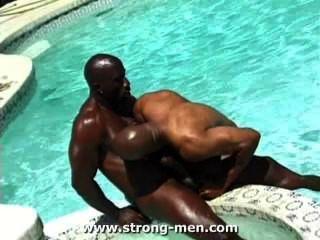 अद्भुत काले मांसपेशी लोभी