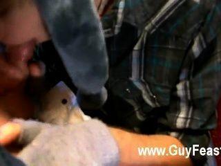 गर्म समलैंगिक यौन संबंध एरिक द्वारा बंद gobbled