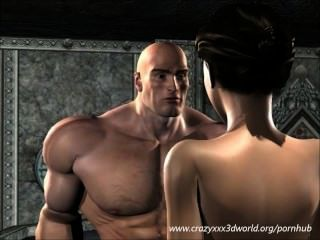 3 डी एनीमेशन: राक्षस राजा मिठाई बेब fucks