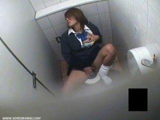 सींग का बना लड़की वर्दी दृश्यरतिक शौचालय हस्तमैथुन