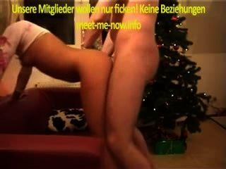 geiler सेक्स एक Weihnachten एमआईटी Blondine