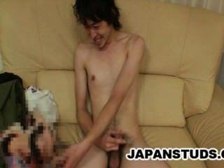 Kazushi Tazawa - पतला जापान संवर्धन मुर्गा wanking