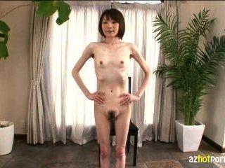 जापान पहली बार ए वी में बहुत पतला लड़की