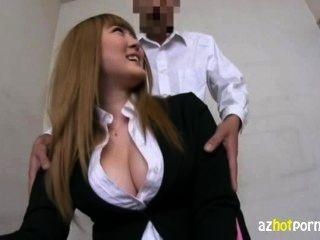 Busty कार्यालय महिला पीओवी कट्टर बकवास