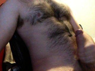 जब तक मैं अपने बालों सीने पर बड़ा भार सह मेरे विशाल मुर्गा मरोड़ते