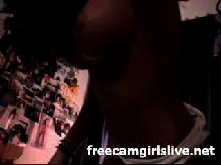 वेब कैमरा नाच पर पागल गर्म लैटिना चूजा