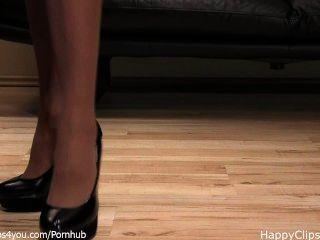मालकिन anique काले ऊँची एड़ी के जूते कदम