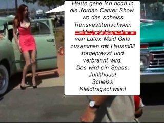 मांद में लेटेक्स नौकरानी Luder लगाम müllpresswagen डु scheiss transvestitenschwein