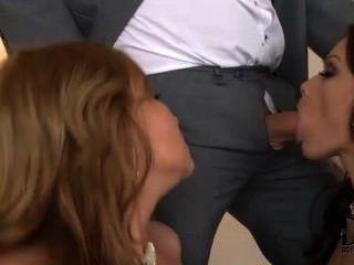 सोफी और Abbie उनके पुरुषों के साथ मज़ा आ रहा है