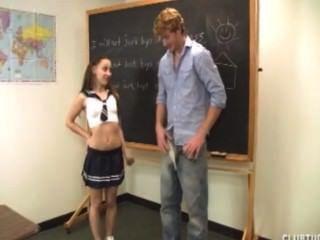 उसके शिक्षक बंद प्यारा छात्रा झटके