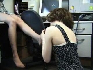 कार्यालय समलैंगिकों नायलॉन पैर की पूजा
