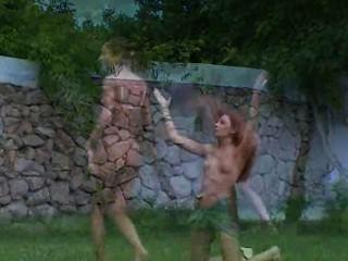 रूसी लड़कियों घास में मूत्रक्रीड़ा