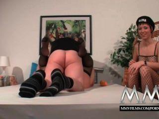 MMV फिल्में जर्मन फूहड़ एक मोटी परिपक्व पत्नी की मदद से बाहर संभोग करने के लिए