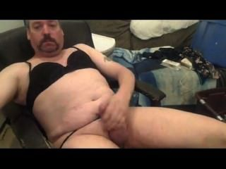 crossdresser masturbates और cums संकलन # 5