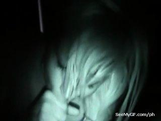 पूर्व प्रेमिका blowjob देने के sexting रात दृष्टि वीडियो