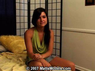 Matts मॉडल पर शौकिया किशोरों एनी पहली बार अश्लील ऑडिशन