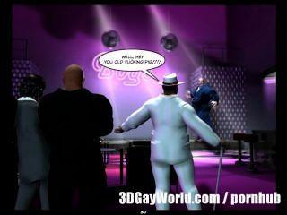 समलैंगिक क्लब 3 डी समलैंगिक कॉमिक्स या मोबाइल फोनों के कार्टून कहानी में पागल सार्वजनिक नंगा नाच