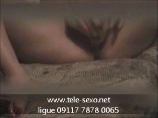 गर्म लड़की masturbates 8 tele-sexo.net 09117 7878 0065