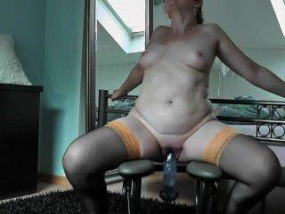 mit einem Dicken डिल्डो Reite आईसीएच mich auf dem fickstuhl Zum orgasmus