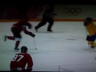 ओलंपिक हॉकी - स्वर्ण धातु खेल - कनाडा स्वीडन - # 3 लक्ष्य