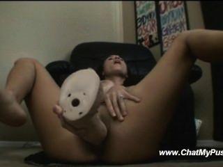 Busty milf Dildo हस्तमैथुन रहते हैं - chatmypussy.com